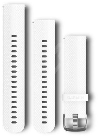 Garmin Quick Release Band 20 Silicone White (Silver Buckle) - Watch band