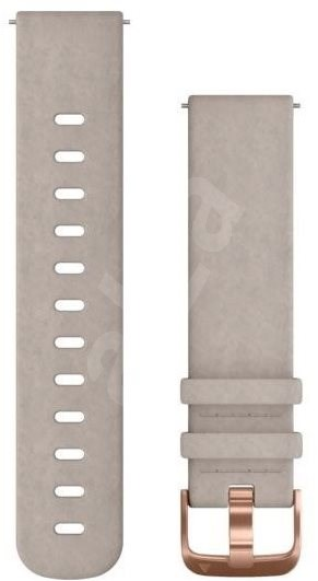 Garmin Quick Release 20 Grey Suede (Rose Gold Buckle) - Watch band
