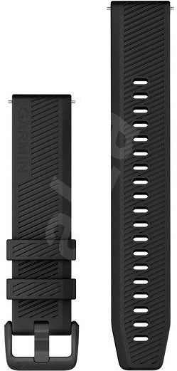 Garmin Quick Release 20 Silicone Black (Dark Buckle) - Watch band