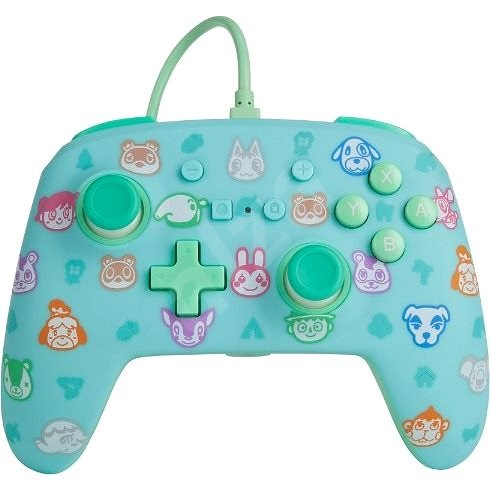 PowerA Enhanced Wired Controller - Animal Crossing - Nintendo Switch - Gamepad
