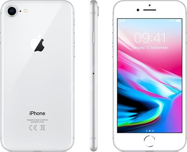 iPhone 8 128GB silver - Mobile Phone
