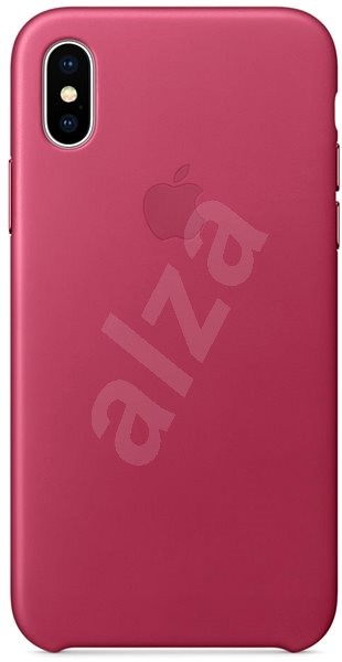 iPhone X Leather case fuchsia - Mobile Case