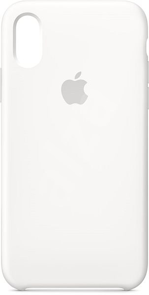 iPhone XS Silicone Cover White - Mobile Case