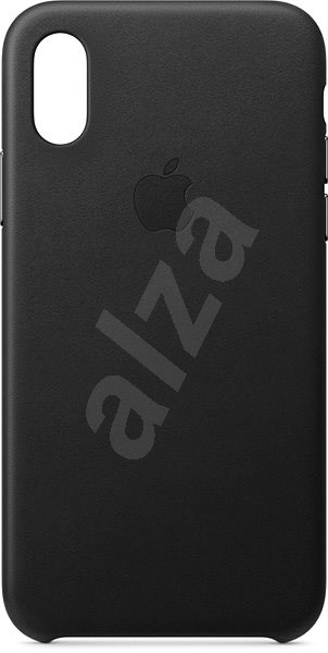 iPhone XS Leather Cover Black - Mobile Case