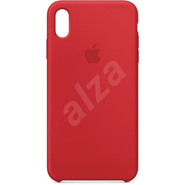 iPhone XS Max Silicone Cover Red - Mobile Case