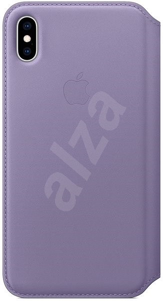 iPhone XS Max Folio  Leather Case Lilac Blue - Mobile Phone Case