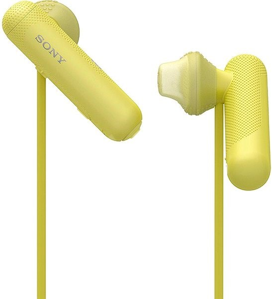 Sony WI-SP500 Yellow - Headphones with Mic