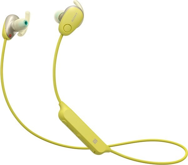 Sony WI-SP600N Yellow - Headphones with Mic