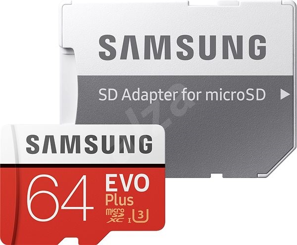 Samsung Micro SDXC 64GB EVO Plus Class 10 UHS-I + SD Adapter - Memory Card