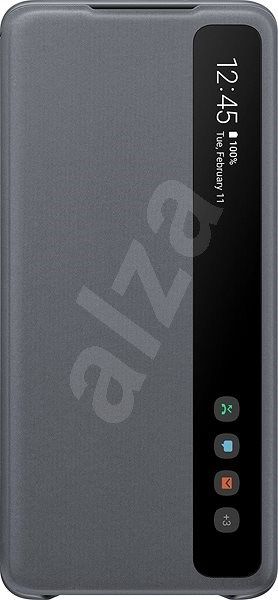 Samsung Clear View Flip Case for Galaxy S20+ Grey - Mobile Phone Case
