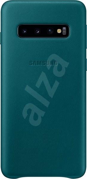Samsung Galaxy S10 Leather Cover Green - Mobile Case