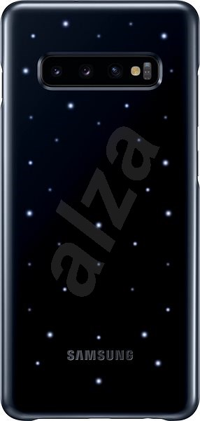 Samsung Galaxy S10 + LED Cover Black - Mobile Phone Case