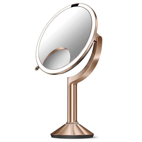 Simplehuman Sensor TRIO with LED lighting, brushed Rose Gold stainless steel - Makeup Mirror