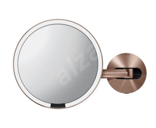 Simplehuman Sensor with LED Lighting, Wall Mount, Rose Gold Stainless Steel - Makeup Mirror