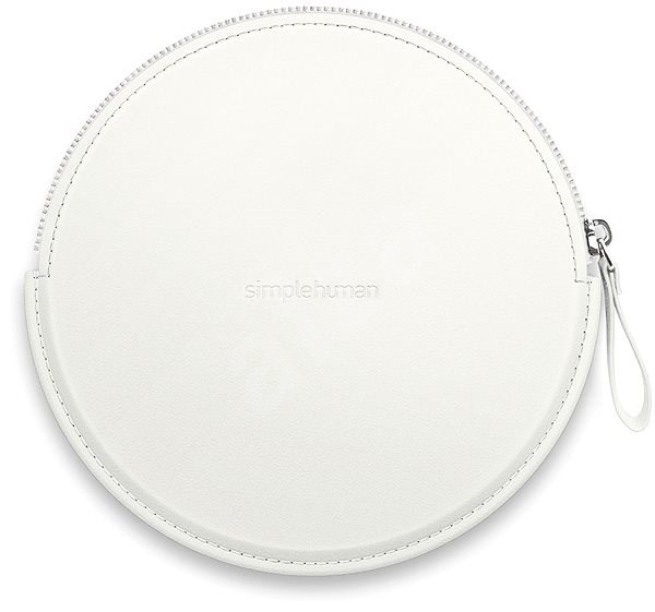 Simplehuman Sensor Compact Zip Case White Case with Zip for Pocket Mirrors ST9003 - Case