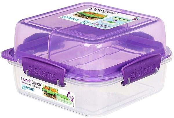 Sistema Lunch Stack Square To Go Purple