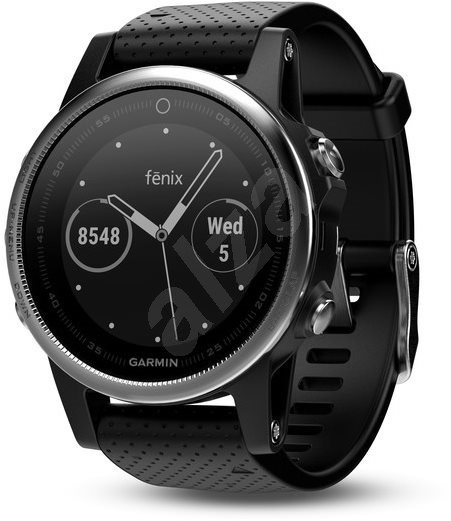 Garmin Fenix 5S Silver, Black band - Smartwatch