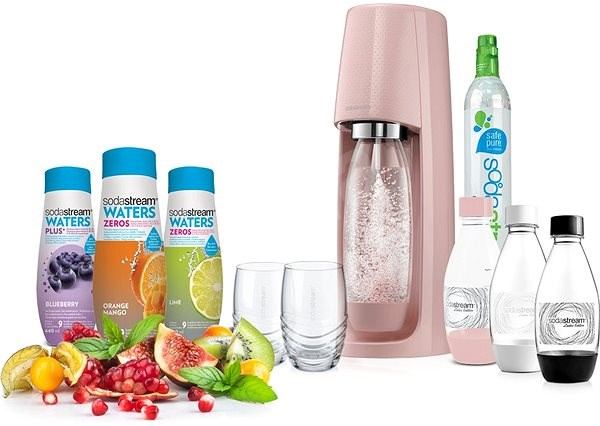 SodaStream SPIRIT Pink Lady's Pack - Soda Maker