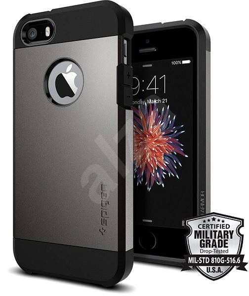 SPIGEN Tough Armor Gunmetal iPhone SE / 5s / 5 - Mobile Case