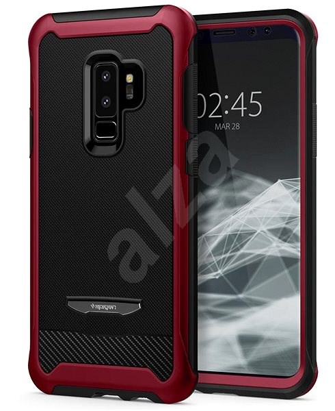 best service 56b8f d57c4 Spigen Galaxy S9 Plus Case Reventon Metallic Red