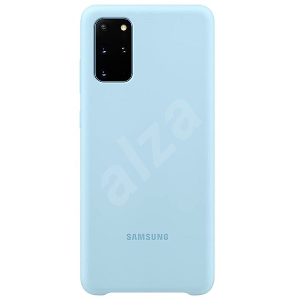 Samsung Silicone Back Cover for Galaxy S20+, Blue - Mobile Case