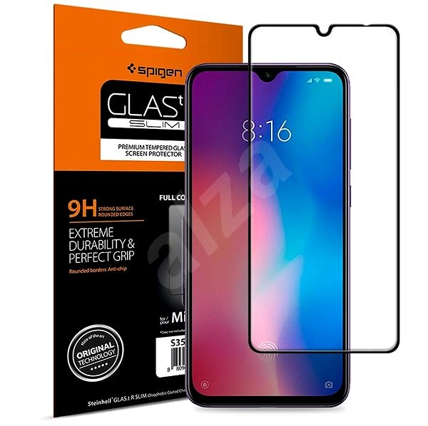 Spigen Glass FC HD Black Xiaomi Mi 9 - Glass protector