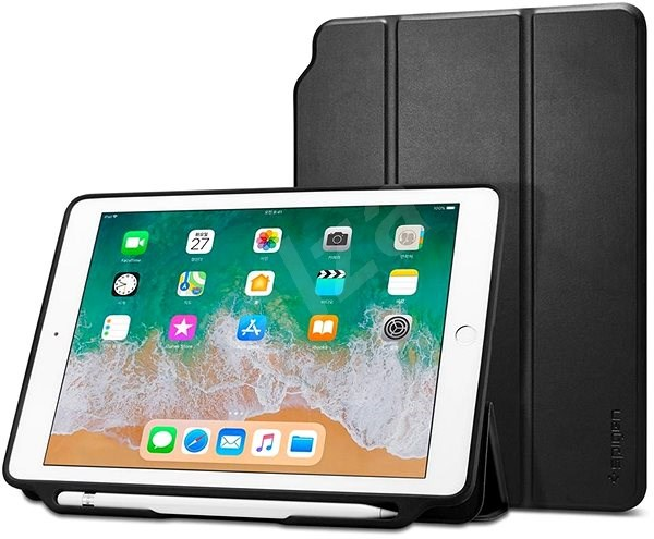 "Spigen Smart Fold 2 Black iPad 9.7"" 2017/2018 - Protective Case"