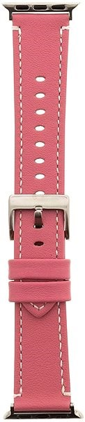 Tactical Colour Leather Strap for Apple Watch 4 44mm Pink (EU Blister) - Watch band