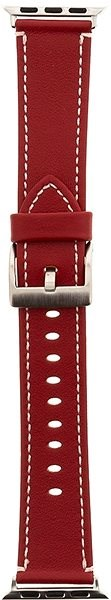 Tactical Colour Leather Strap for Apple Watch 4 44mm Red (EU Blister) - Watch band