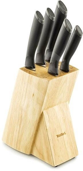 Tefal Comfort Knife Set 5pcs + Wooden Block - Knife Set
