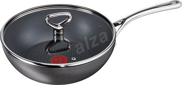 TEFAL Wok Pan with Glass Lid 28cm RESERVED COLLECT - Wok