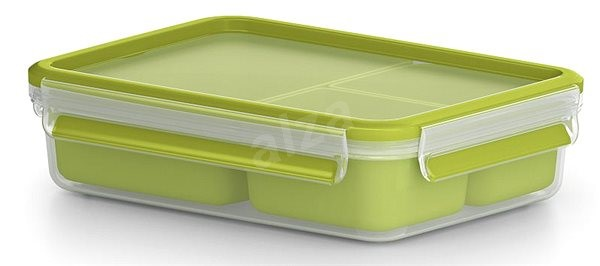 TEFAL MASTERSEAL TO GO Rectangular 1.2l with 3 Internal Containers - Container