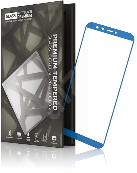 Tempered Glass Protector Frame for Huawei Mate 10 Pro Blue - Glass protector