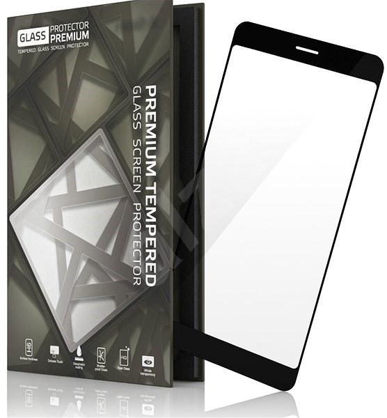 Tempered Glass Protector Frame for Nokia 8 Black - Glass protector