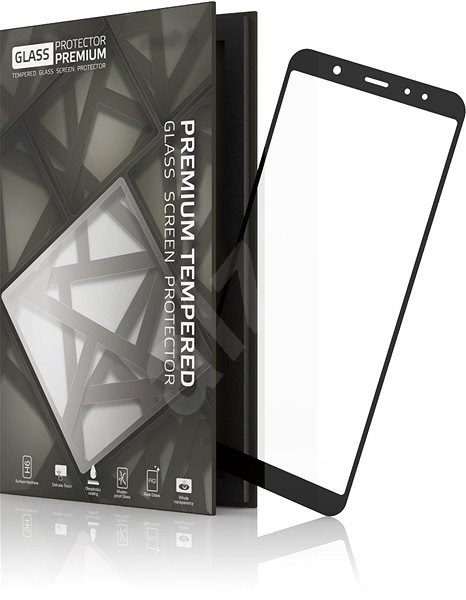 Tempered Glass Protector Frames for Samsung Galaxy A6 + Black ...