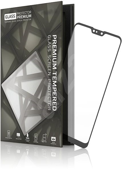 Tempered Glass Protector Frame for ASUS ZenFone Max Pro M2 Black - Glass protector