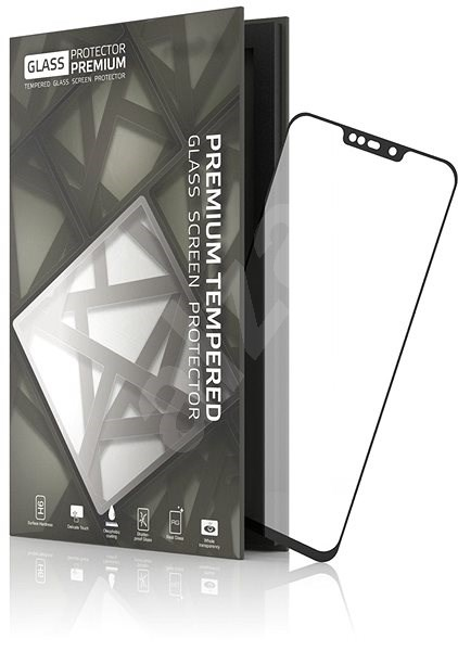 Tempered Glass Protector Frame for ASUS ZenFone Max M2 Black - Glass protector