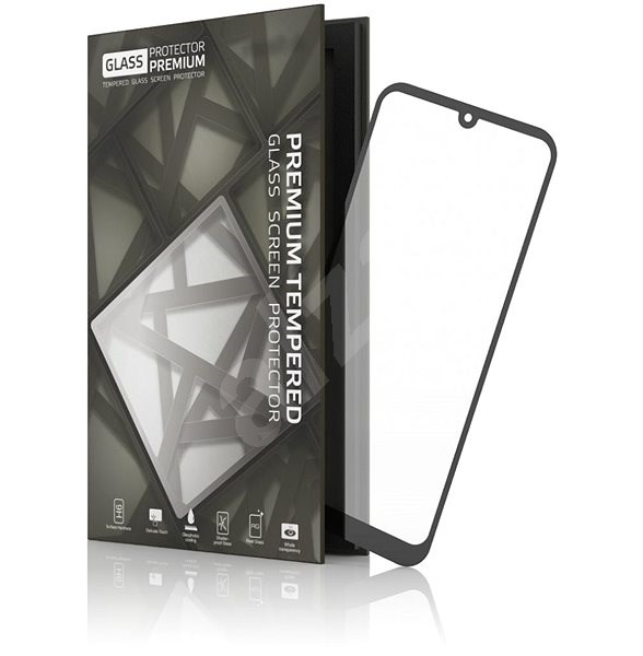 Tempered Glass Protector Frame for Huawei P30 Lite Black - Glass protector