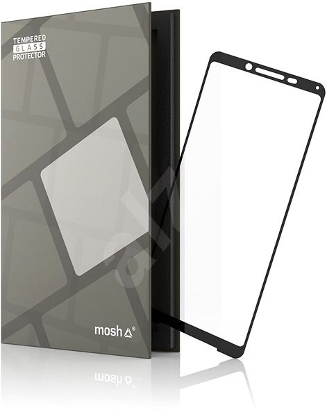 Tempered Glass Protector Frame for Sony XPERIA 10 II, Black - Glass protector