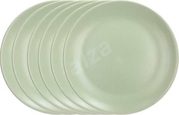 Tognana FABRIC SALVIA Set of Dinner Plates 26cm 6pcs, Green - Set of plates