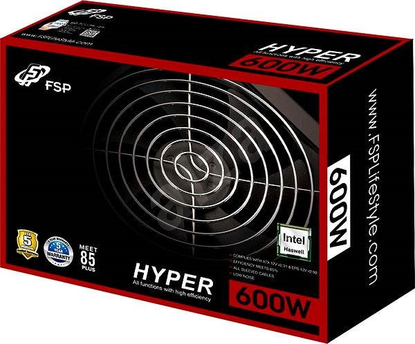 FSP Fortron Hyper S 600 - PC Power Supply Unit