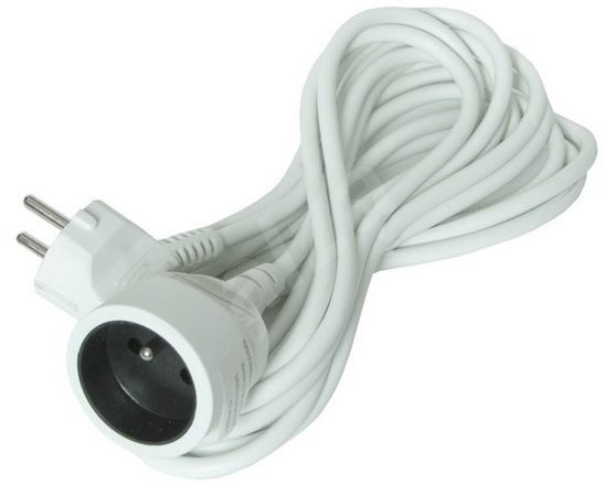 Solight Extension Cable, 1 socket, white, 5m. - Extension Cable