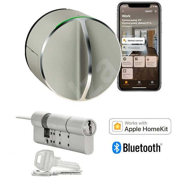 Danalock V3 sets a clever lock including a cylindrical insert - Bluetooth and Homekit - Smart Lock