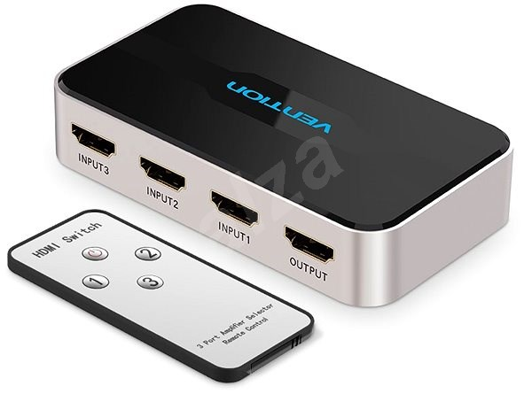 Vention 3 In 1 Out HDMI Switcher Grey Metal Type - Switch
