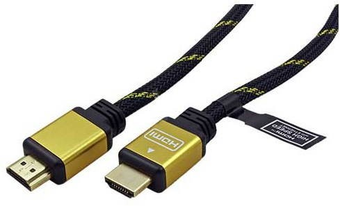 Roline Gold High Speed HDMI Cable with Ethernet, HDMI M-HDMI M, Gold-Plated Connectors, 15m - Video Cable