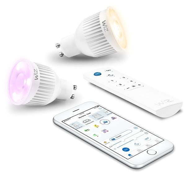 WiZ Wifi Smart Bulb 2x GU10 with Remote Control WZ0195082 - LED bulb