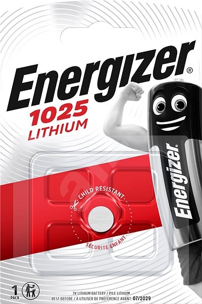 Energizer Lithium Coin Cell Battery CR1025 - Button Cell