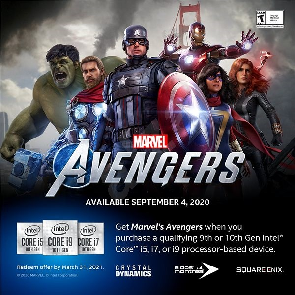 Intel Marvel's Avengers Gaming Bundle - must be applied by 31.3.2021 - Electronic Promo Key