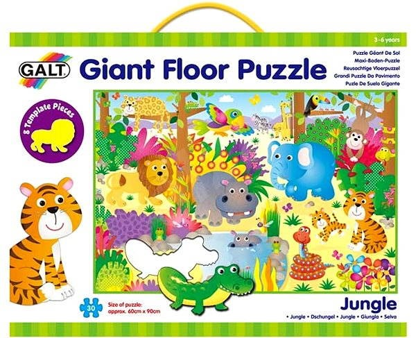 GALT Large Floor Jigsaw Puzzle - Animals in the Jungle - Puzzle