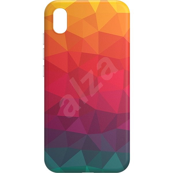AlzaGuard - Xiaomi Redmi 7A - Rainbow Geometry Madness - Mobile Case